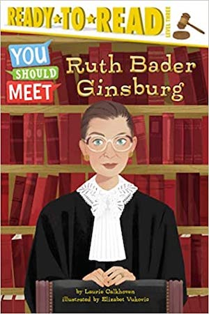 "As part of a fun, biographical series of ""people you should meet,"" learn about Ruth Bader Ginsburg, Supreme Court justice, in a ready-to-read format, just right for newly-independent readers. More books about judges for kids at nancybrashear.com."