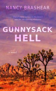 Gunnysack Hell by Nancy Brashear. Purple/red photo of the mojave desert.